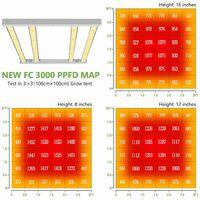 Mars Hydro FC 3000 Led Grow Light Full Spectrum Samsungled for Indoor Plants UV - Silver
