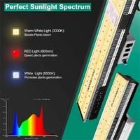 Mars Hydro SP 3000 Led Grow Lights Full Spectrum Hydroponic for Indoor Plants - Silver