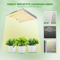 Mars Hydro TSW 2000W LED Grow Light Full Spectrum for Indoor Plants Timer 4x4ft - Silver