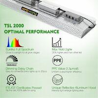 Mars Hydro TSL 2000W Led Grow Light Full Spectrum for Indoor Plants Timer Flower - Silver