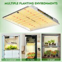Mars Hydro TS 600W LED Grow Light Full Spectrum for All Indoor Plants Veg Flower - Silver