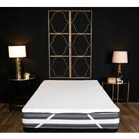 Pavillon class - Topper viscoelástico de 5 cm, con funda extraíble y lavable. Comodidad y protección para tu colchón. Efecto memoria - 90 x 200 cm