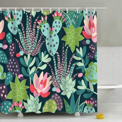 Shower Curtain Bathroom Curtains with Hooks Mold Proof Washable Beautiful Printed High Quality Mold Resistant Antibacterial Easy to Clean (9)
