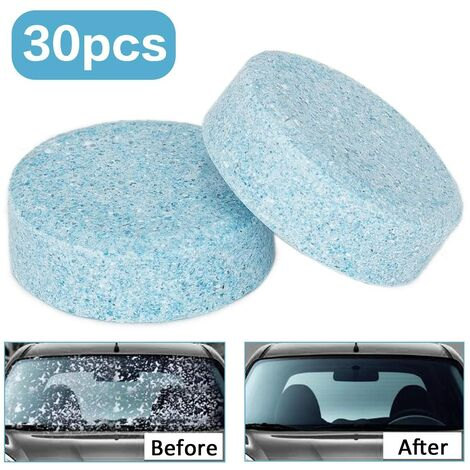 Windshield Washer, Car Windshield Cleaner - Glass, Window and Tile Cleaning - Water solutions Detergent - Pack OF 30 Tablets Equivalent to 120 liters. ...