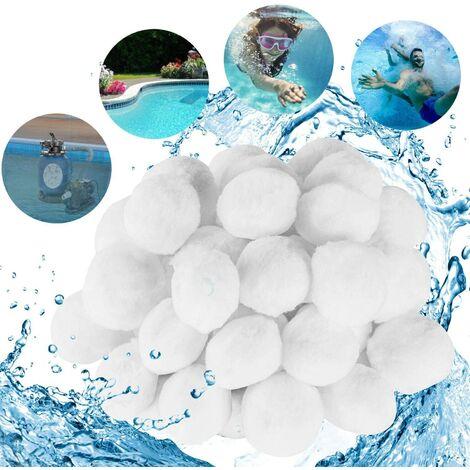 300g Pool Filter Balls, Filter Balls, Fiber Filter Media for Swimming Pool Sand Filters Water Filter, Alternative for 10.7 kg of Sand Filter, Pool Filter