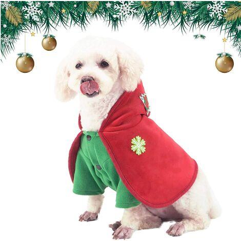 Dog Christmas Outfits Soft Dog Xmas Cape with
