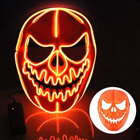 Halloween mask, LED mask with 3 flash modes pumpkin mask for children man woman, Christmas, carnival, party, costume cosplay, decoration