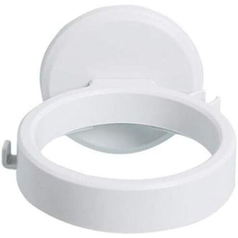 1 Pack Bathroom Non-Perforated Wall-Mounted Hair Dryer Rack Bathroom Accessories Hair Dryer Storage Rack (White)