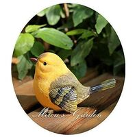 Cut Birds Garden Statue Funny Outdoor Garden Statue - Sculpture Ornaments Decor Set of 2 styles Yellow + Black
