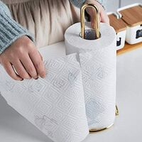 Gold Stainless Steel Portable Kitchen Roll Holder