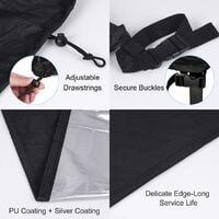 Waterproof Protective Cover for Outdoor Living Room Duvet Cover Waterproof Oxford Fabric Outdoor Furniture Cover Outdoor Table Cover (200 x 160 x 70cm)