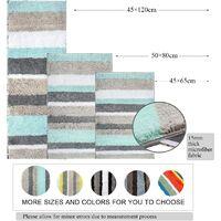 Bath Mat Super Absorbent Non-Slip Washable Shower Mat for Bathroom (50X80cm, Green / Gray)