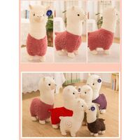 Cute Alpaca Stuffed Animal Doll Stuffed Animals Plush Sheep Pillow (Pink, 35cm)
