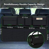 Car Organizer Car Storage 3rd Gene [Super capacity] Car Organizer, equipped with [Elastic Net & 4 Magic Sticks] Car Storage Trunk, Car Storage, Black