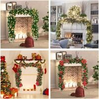 270cm Christmas Tree Garland, Christmas Artificial Fir Garland Lighted Lamp LED Lamp Decoration for Christmas Tree Door Staircase Fireplace (gold)