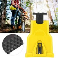 High Quality Electric Chainsaw Sharpener, Portable Chain Saw Blade Sharpener Chainsaw Teeth Sharpener Kit Universal Whetstone Grinder Tools (Yellow)