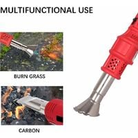 Electric Weed Killer, Weed Burner with Nozzle - Burn Weed & Charcoal 2 in 1 Thermal Weed Stick, Up to 650 ℃ Powerful Weed Control Tool