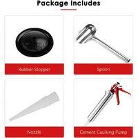 Stainless Steel Gasket Gun for Caulking Tips - Brick & Tile Tool - DIY Tool