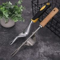 Set of 2 manual weeding tools for garden and lawn