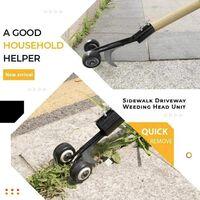 Manual Winding Weed Throwers, Sidewalk Handheld Weed Puller, Weed Puller, Quick and Economical Vertical Weed Killer, Garden Garden Tools