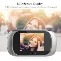 Video Doorbell Doorbell Electronic Camera Doorbell with 2.8 Inch LCD screen, Night Vision, Photo Shooting, Wide Viewing Angle, Silver