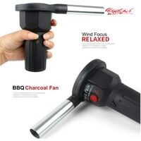 BBQ Fan, Barbecue Bellows - Simple Operation, Portable and Lightweight - Ideal for BBQs and Outdoor Picnics