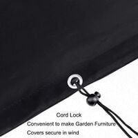 Outdoor Furniture Cover, Outdoor Table Cover, Drapery Cover, Protective Cover for Outdoor Furniture, 420D Oxford Waterproof Durable Outdoor Furniture Cover (180x120x74cm)
