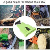 High Quality Electric Chainsaw Sharpener, Portable Chain Saw Blade Sharpener Chainsaw Teeth Sharpener Kit Universal Whetstone Grinder Tools (Green)