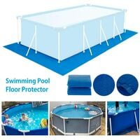 Pool Floor Mat, Above Ground Pool Floor Mat, Easy Clean Rectangular / Round / Square PVC Pool Floor Mat (396x396cm)