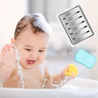 Ceramic Soap Dish Holder Stainless Steel Soap Holder for Bathroom and Shower Double Layer Draining Soap Box