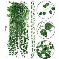 24 Pack 157.4ft Artificial Ivy Garland Fake Greenery Leaf Vines Hanging Plants for Home Wedding Garden Swing Frame Decoration