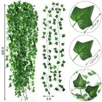14 Pack 98 Feet Fake Ivy Leaves Artificial Ivy Garland Greenery Garlands Hanging Plant Vine for Wedding Wall Party Room Astethic Stuff Decor
