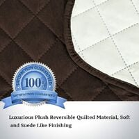 """Sofa Protector for Dogs/Cats/Pets Sofa Slipcover Quilted Furniture Protector with Non Slip Elastic Strap Water Resistant Sofa Covers Couch Covers Seat Width: 66"""", brown"""