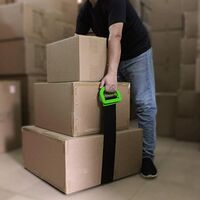 Adjustable Lifting Moving Straps - 2 Pack Furniture Moving Straps for Furniture, Boxes, Mattress, Construction Materials and Heavy, Supports Up to 600 Lbs