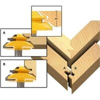 Tongue and Groove Router Bit Tool Set 1/2 Inch Shank with 45°Lock Miter Bit 1/2 Inch Shank T Shape Milling Cutter for Doors Tables Shelves DIY Woodworking and More