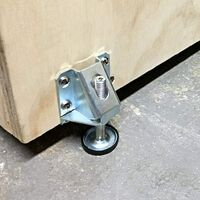 Heavy Duty Adjustable Leveling Feet Hexagon Nuts Lock Furniture Legs Levelers for Furniture, Table, Cabinets, Workbench, Shelving Units and More