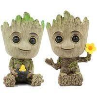Planter Flower-Pot - Guardians Galaxy Tree Man Flower Pot or Pens Holder - Tiny Succulents Plants for Kids (Bird & Flower)