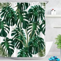 Shower Curtain, Polyester Fabric, Extra Long Bath Curtains, Waterproof Anti-Mold Bathroom Decor, Home Accessories with Curtain Hooks volume_up content_copy share