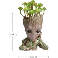 Treeman Planter Flower-Pot - Guardians Galaxy Tree Man Flower Pot or Pens Holder - Tiny Succulents Plants for Kids (Thinking&Heart)