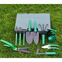 Gardening Tool Set, 10 Pieces Garden Hand Tools Gifts for Gardener (Green)