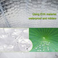 Shower Curtain Anti-Mold Waterproof Antibacterial Curtain for Shower and Bath Including Super Shower Curtain Rings