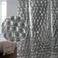3D Cube Water Mildew Proof Water Proof Shower Curtain