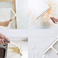 Shower Squeegee,Bathroom Squeegee Window Wiper Glass Cleaner Squeegee Portable All-Purpose Squeegee for Kitchen/Car Glass/Mirror/Shower Door/Tile