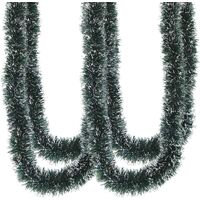 33FT Christmas Garland,Artificial Greenery Garland with Snow for Mantle Stair Fireplace Xmas Decoration greed