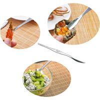 6 Pcs Seafood Tools,Double Headed 304 Stainless Steel Fork and Spoon for Crab and Lobster