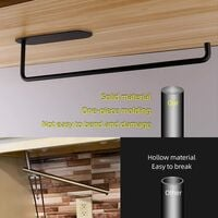 Adhesive Paper Roll Holder SUS304 Stainless Steel Kitchen Tissue Roll Holder Wall Mounted Paper Holder Under Kitchen Cabinet for Shower Bathroom