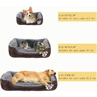 Dog Bed Super Soft Pet Sofa Cats Bed,Non Slip Bottom Pet Lounger,Self Warming and Breathable Pet Bed Premium Bedding (coffee)