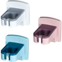 3 Pcs Hair Dryer Bracket Multi-Functional Bathroom Hhair Dryer Storage Rack Wall Mounted Design Shelf Waterproof Non-Punch Bathroom Fnishing Shelf