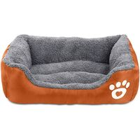 Dog Bed Super Soft Pet Sofa Cats Bed,Non Slip Bottom Pet Lounger,Self Warming and Breathable Pet Bed Premium Bedding (orange)