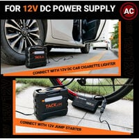 TACKLIFE A6 Inflador de neumáticos de coche 12V DC Compresor de aire portátil